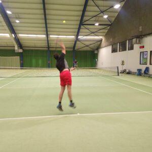 Tennistraining winter